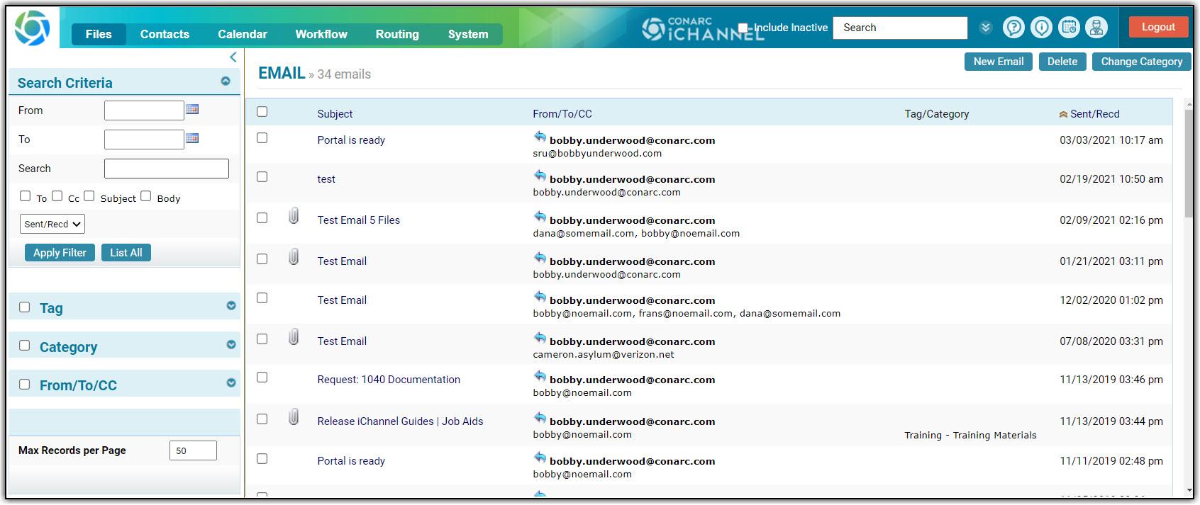 iChannel Email Management